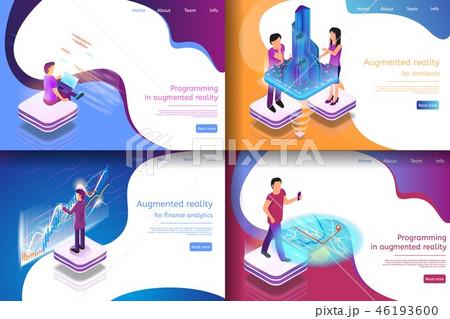 Set Isometric Illustration Virtual Entertainment 46193600