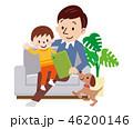 親子 タブレット 団らんのイラスト 46200146
