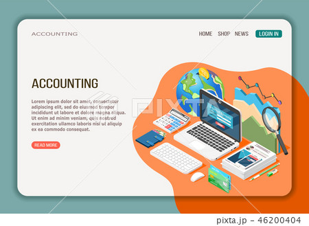 Accounting Isometric Web Page 46200404