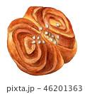 パン シナモンロール 水彩のイラスト 46201363