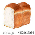 パン イギリスパン 食パンのイラスト 46201364