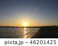 東京湾 夕陽 海の写真 46201425