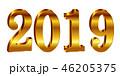 2019 数字 文字のイラスト 46205375