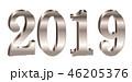 2019 数字 文字のイラスト 46205376