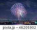 夜景 花火 花火大会の写真 46205902