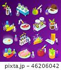 食 料理 食べ物のイラスト 46206042