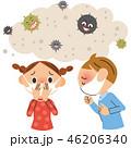 風邪 病原菌 咳のイラスト 46206340