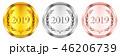 2019 メダル 数字のイラスト 46206739