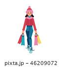 女性 ショッピング 買い物のイラスト 46209072