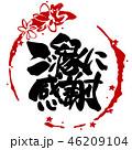 筆文字 ご縁に感謝 文字のイラスト 46209104