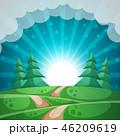 森林 林 森のイラスト 46209619