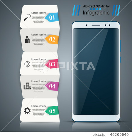 Digital gadget, smartphone- business infographic. 46209640