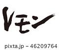 レモン 果物 筆文字のイラスト 46209764