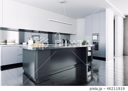 modern kitchen interior. 46211919