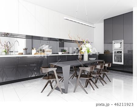 modern kitchen interior. 46211923