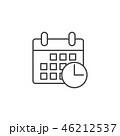 カレンダー 暦 アイコンのイラスト 46212537