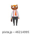 ビジネスマン 実業家 ねこのイラスト 46214995