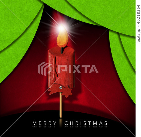 Merry Christmas - Wooden Candle and Comet Star 46218364