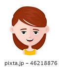 顔 面 面子のイラスト 46218876