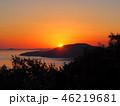 夕日 夕焼け 日没の写真 46219681