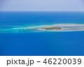 快晴日のグリーン島航空写真 46220039
