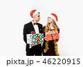 クリスマス 女性 サンタさんの写真 46220915