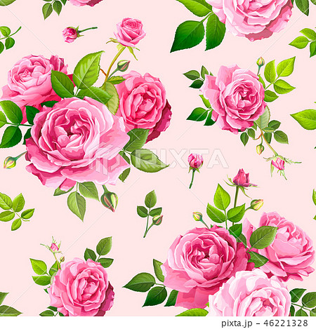 Seamless pattern with rose flowers 46221328