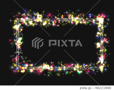 Vector frame in a frame of bright colored lights 46221660