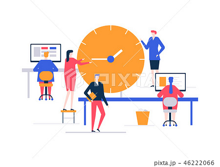 Time management - flat design style colorful illustration 46222066