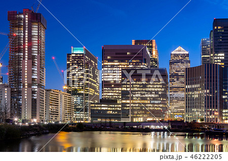 London Canary Wharf sunset 46222205