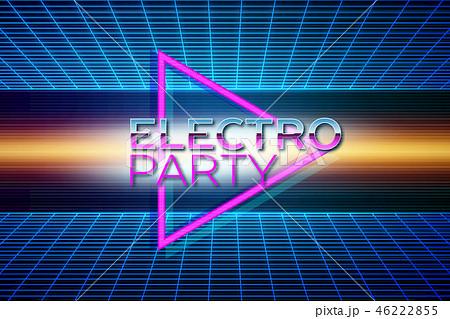 Retro futuristic background 80s style 46222855