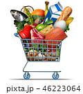 食料品店 スーパーマーケット 食のイラスト 46223064