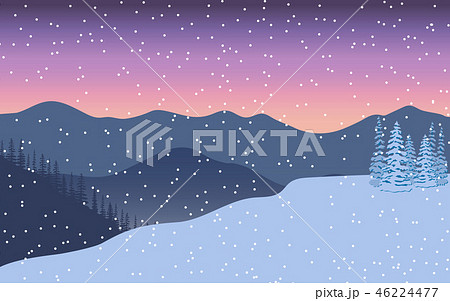 Winter landscape. Evening twilight, distant 46224477