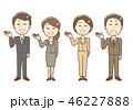 スーツ 案内 男女のイラスト 46227888