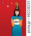 ケーキ お祝い 笑い 46228235