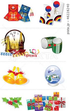 お祝い 装飾 食べ物 46228240