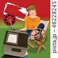帽子 カジュアル 椅子 46228245