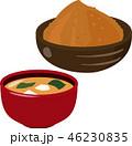 味噌汁と味噌 46230835