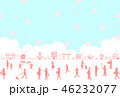 桜 春 ライフスタイルのイラスト 46232077