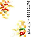お正月 背景 金色のイラスト 46232176