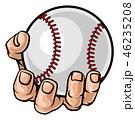 ベースボール 白球 野球のイラスト 46235208