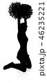 チアガール チアリーダー 人影のイラスト 46235221