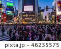 渋谷 スクランブル交差点 人混みの写真 46235575