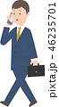 ビジネスマン スマホ 営業のイラスト 46235701