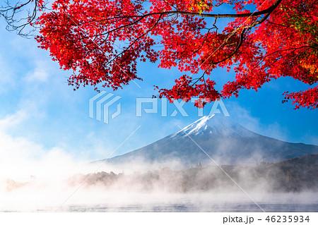 《山梨県》日本の秋・富士山と紅葉 46235934