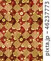 和柄 市松模様 青海波のイラスト 46237773
