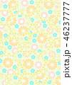 和柄 花柄 花のイラスト 46237777