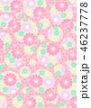 和柄 花柄 花のイラスト 46237778