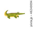 クロコダイル ワニ 動物のイラスト 46240094