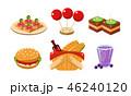 食 料理 食べ物のイラスト 46240120